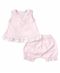 Kissy Kissy - Sunsuit Set Elegant Eyelet - Pink 0-3M