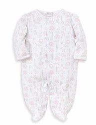 Kissy Kissy - Jungle Out There Print Footie - Pink NB