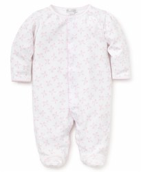 Kissy Kissy - Bunches of Bows Footie - Pink NB