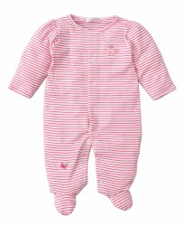 Kissy Kissy - Footie Striped Whale of a Time - Pink NB