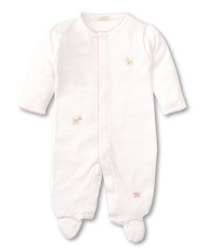 Kissy Kissy - Embroidered Footie SCE Jungle Fun - Pink NB