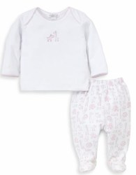 Kissy Kissy - Jungle Out There Pant Set - Pink NB
