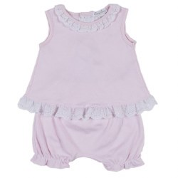 Kissy Kissy - Rose Garden Sunsuit - Pink 0-3