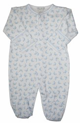 Kissy Kissy - Curious Crabs Footie - Blue NB