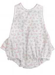 Kissy Kissy - Curious Crabs Ruffle Bubble - Pink 0-3