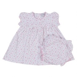 Kissy Kissy - Little Girl's Dreams Dresss with Dipaer Cover - Pink 0-3