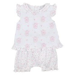 Kissy Kissy - Little Girl's Dreams Print Sunsuit - Pink 0-3