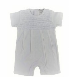 Kissy Kissy - Breeze Short Playsuit - White 0-3