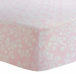 Kushies - Bassinet Fitted Sheet Flannel - Berries Pink