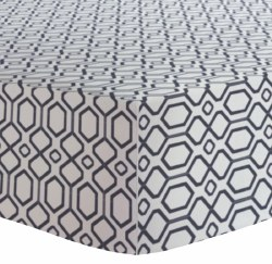 Kushies - Bassinet Fitted Sheet Flannel - Octagon Navy