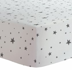Kushies - Changing Pad Cover Flannel - Scribble Stars