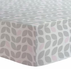 Kushies - Portable Playpen Fitted Sheet Flannel - Petal Grey