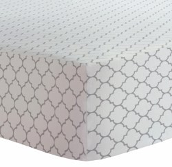 Kushies - Portable Playpen Fitted Sheet Flannel - Ornament Grey