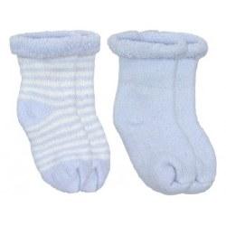 Kushies - Newborn Terry Socks - Blue