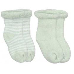 Kushies - Newborn Terry Socks - Green