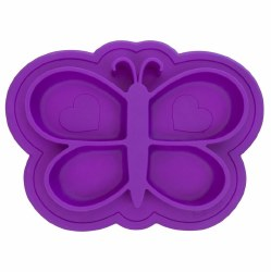 Kushies - Silicone Siliplate - Butterfly Violet