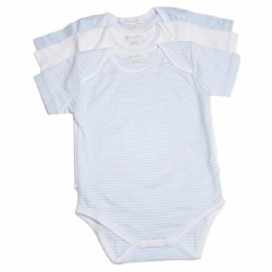 Kissy Kissy - 3 Pack Short Sleeve Stripe Body Blue 0-3