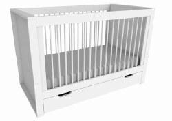 Furniture - Milky Convertible Crib Whit
