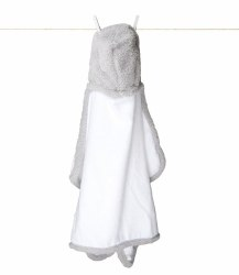 Little Giraffe -  Chenille Hooded Towel - Silver