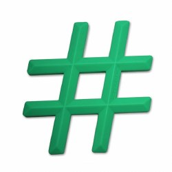 Little Standout - Teether Hashtag Green