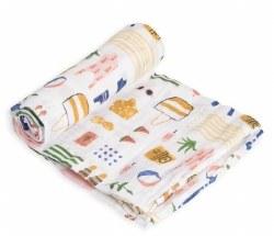 Little Unicorn - Cotton Muslin Swaddle Single - Beach Bag