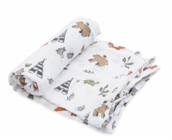 Little Unicorn - Cotton Muslin Swaddle Single - Forest Friends