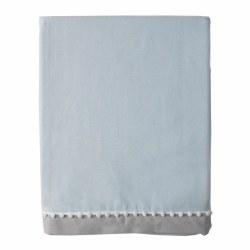 Lolli Living - Crib Skirt - Blue/Grey