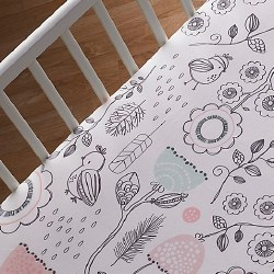 Lolli Living - Fitted Sheet - Sparrow Print