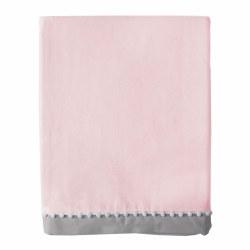 Lolli Living - Crib Skirt - Pink/Grey