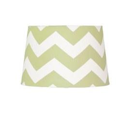 Lolli Living - Lamp Shade - Green Zig Zag