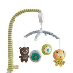 Lolli Living - Knitted Musical Mobile - Zoo Animals