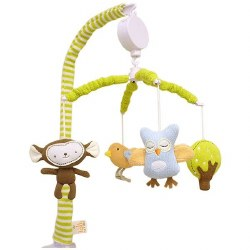 Lolli Living - Knitted Musical Mobile - Monkey