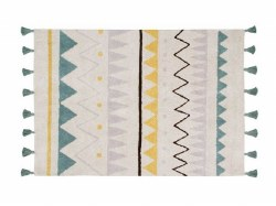 Lorena Canals - Azteca Natural Washable Rug -  Vintage Blue