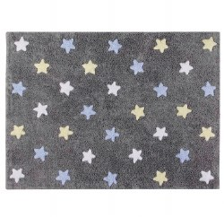 Lorena Canals - Stars Washable Rug - Tricolor Blue
