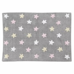 Lorena Canals - Stars Washable Rug - Tricolor Pink