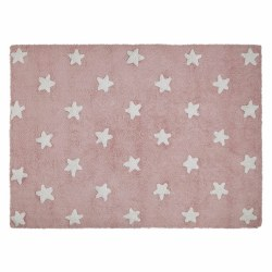 Lorena Canals - Stars Washable Rug - Pink/White