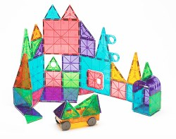 Magnatiles - Magna-Tiles Clear Colors Deluxe Set - 48pc