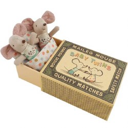 Maileg - Baby Twin Mice in Box