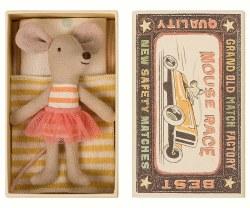 Maileg - Little Sister Mouse Box Pink TuTu