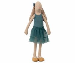 Maileg - Doll Size 3 Bunny Ballerina Petrol