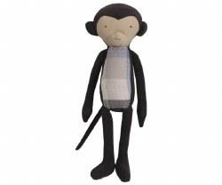 Maileg - Medium Monkey Black/Blue