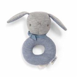 Mamas & Papas -  Grabber Bunny Rattle - Blue