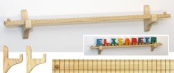 Name Train -  Wall Mount Track & Brakets for 9 Pieces