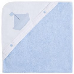 Spanish Line - Hooded Towel  - Blue Boat