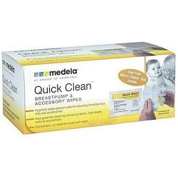 Medela - Quick Clean Breast Pump and Accessory Wipes 40 Count
