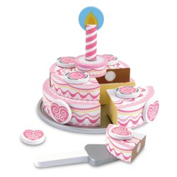 Melissa & Doug - Wooden Play Food Triple-Layer Cake