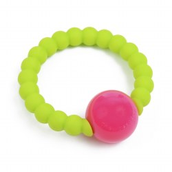 Chewbeads - Mercer Rattle - Chartreuse