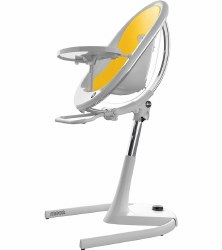 Mima - Moon 2G High Chair White - Yellow