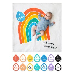 Lulujo Baby - Baby's First Years Blanket & Milestone Cards Set - A Dream Come True