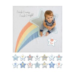 Lulujo Baby - Baby's First Years Blanket & Milestone Cards Set - I Wish I May